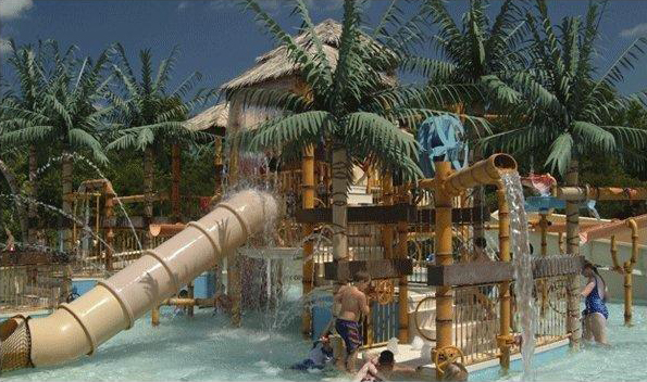 """<h6>Charleston County """"Splash Zone"""" </h6> <p>County Owned waterparks use the Tropical Theme to keep guests coming back </p>"""
